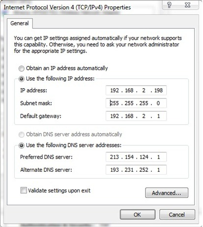 Cum sa setam un IP static in Windows 7 (TCP/IP Settings) Ipstatic