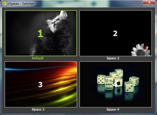 Desktop-uri multiple in Windows 7 cu nSpaces Nspaces_switcher