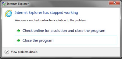 Fix) Internet Explorer has stopped working. / IE9 / Module: nvumdshim
